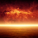 Apocalyptic background. Dramatic apocalyptic background, end of world, red sunset, armageddon, hell. Elements of this image furnished by NASA/JPL-Caltech Stock Photos
