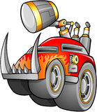 Apocalyptic Car Vehicle vector illustration