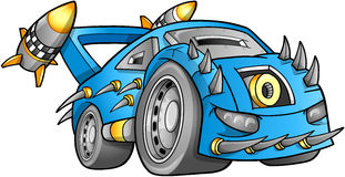 Apocalyptic Car Vehicle Vector Stock Image