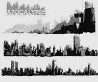 Apocalyptic city illustration Royalty Free Stock Photos
