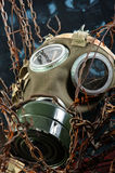 Apocalyptic gasmask. In the bond of eternal darkness Stock Photography