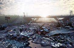 Apocalyptic landscape royalty free illustration