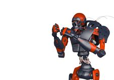 Apocalyptic robot want to fight. This apocalyptic robot will put some action at yours creations, 3d illustration royalty free illustration