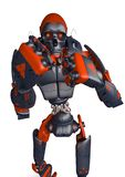 Apocalyptic robot wanto fight frontal view. This apocalyptic robot will put some action at yours creations, 3d illustration royalty free illustration