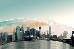 Apocalyptic scenario. Picture of apocalyptic scenario in a highly urbanized city Stock Photography