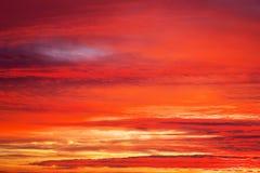 Apocalyptic sunset sky Stock Photos