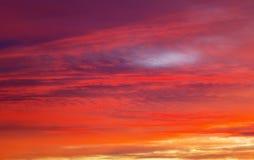 Apocalyptic sunset sky Royalty Free Stock Image