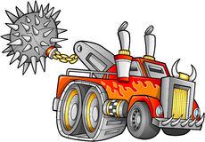 Apocalyptic Truck Vehicle Vector royalty free illustration
