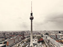 Apocalyptic View of Berlin Skyline Royalty Free Stock Photos