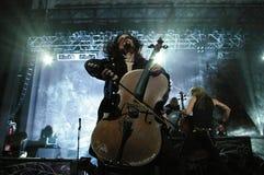 Apocalyptica στη σκηνή Στοκ Φωτογραφίες