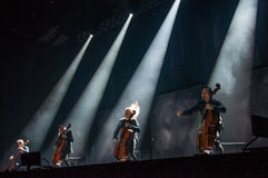 Apocalyptica live 2017. Finnish band Apocalyptica playing live on their 2017 European tour Stock Photo