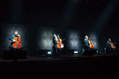 Apocalyptica live 2017. Finnish band Apocalyptica playing live on their 2017 European tour Royalty Free Stock Photography