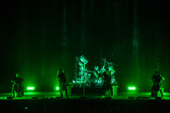 Apocalyptica live 2017. Finnish band Apocalyptica playing live on their 2017 European tour Stock Images