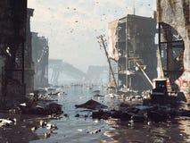 Apocalyptisch landschap stock afbeelding