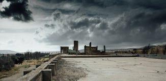Apocalyptisch oorlogslandschap stock afbeelding