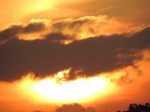 Apocalyptische hemel zonder uitgave stock foto