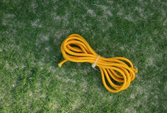 Apocryphal knot on double yellow rope Royalty Free Stock Image