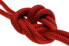 Apocryphal Knot On Double Red Rope Royalty Free Stock Photography