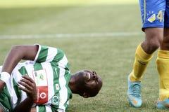 Apoel εναντίον του ποδοσφαίρου Omonoia Κύπρος Στοκ φωτογραφία με δικαίωμα ελεύθερης χρήσης