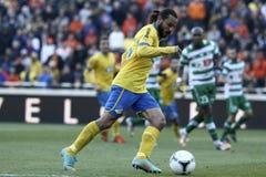 Apoel εναντίον του ποδοσφαίρου Omonoia Κύπρος Στοκ Εικόνα