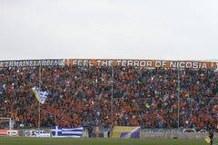 Apoel vs Omonoia Cypr futbol zdjęcia royalty free