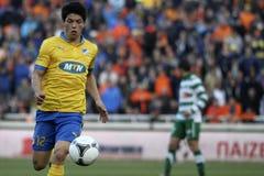 Apoel vs Omonoia Cypr futbol obraz stock