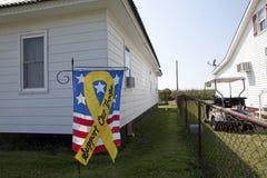 Apoie nossa bandeira das tropas, Chesapeake Imagem de Stock Royalty Free