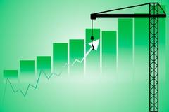 Apoio acima do mercado de valores de ação Fotos de Stock