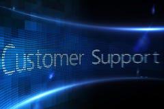 Apoio ao cliente na tela digital Fotografia de Stock Royalty Free