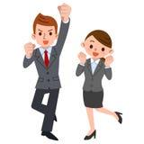 Apoio aos homens de negócios e às mulheres de negócios ilustração do vetor