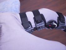 Apoio da cinta do pé de ferimento imagens de stock