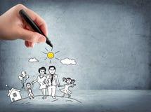 Apoio da família - conceito do seguro Fotos de Stock Royalty Free
