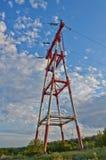 Apoio da linha elétrica Fotografia de Stock