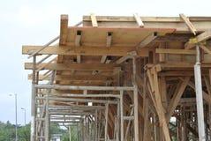 Apoio da madeira para o molde do feixe da madeira Foto de Stock Royalty Free