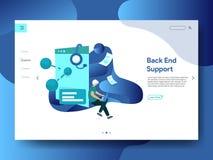 Apoio de aterrissagem do back-end da página ilustração do vetor