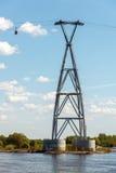 Apoio do cabo aéreo de Nizhny Novgorod no dia de mola Foto de Stock