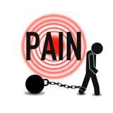 Apoio dos primeiros socorros da dor e das dores, qualidade super ilustração royalty free