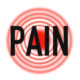 Apoio dos primeiros socorros da dor e das dores, qualidade super ilustração do vetor