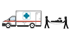 Apoio dos primeiros socorros do carro da ambulância, qualidade super ilustração royalty free