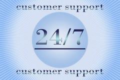 Apoio 24 horas por 7 dias Imagem de Stock