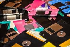 Apoio magnético de disco flexível do armazenamento de dados do computador Imagens de Stock Royalty Free