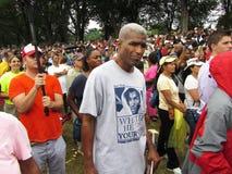 Apoio para o t-shirt de Trayvon Martin Grey Imagens de Stock Royalty Free