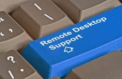 Apoio remoto do desktop imagens de stock