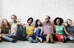 Apoio Team Unity Friendship Concept dos amigos fotografia de stock royalty free