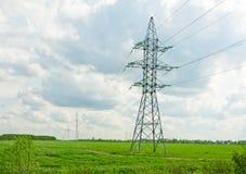 Apoios para linhas elétricas Foto de Stock Royalty Free