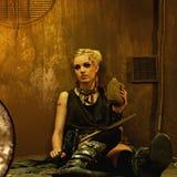 Apokaliptyczna kobieta z kolbą Obraz Royalty Free