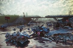 Apokaliptyczny krajobraz ilustracja wektor