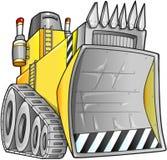 Apokalyptisk bulldozervektor Arkivbilder