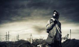Apokalyptisk framtid för stolpe Arkivfoton