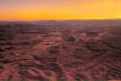 Apokalyptisk landskapeffekt från HDR solnedgångGrandet Canyon, arizona royaltyfri foto